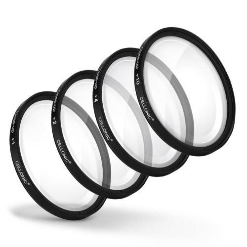 4x close-up macro filtro 58mm para Canon EF-S 18-55mm f//3.5-5.6 II USM