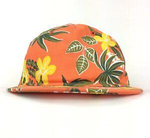 3d86c2e6365 Image is loading VANS-Tropical-Flower-Allover-Print-Pattern-Orange-Baseball-