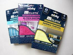 Kitchen Glass Window Hi-Tech Duster /& Antibacterial Pad Minky M-Cloth