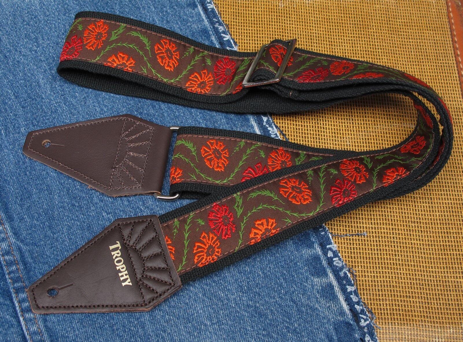 Mellow Flores Algodón Usa Made Made Made Trofeo Correa De Guitarra  lo último
