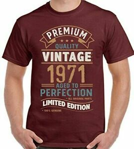 50th Birthday T-Shirt 1971 Mens Funny 50 Year Old Vintage Year Limited Edition