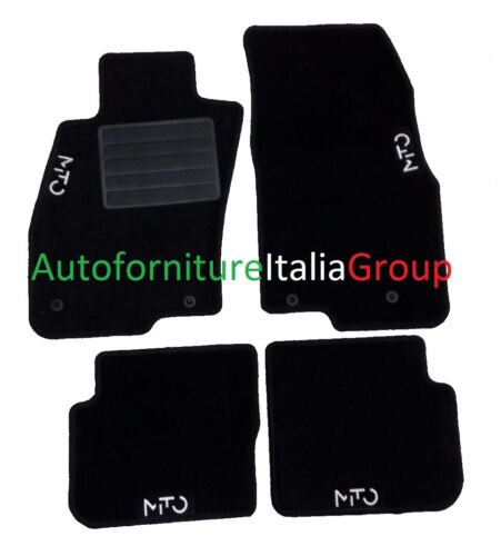 Teppich-Fußmatten Teppichboden 4 Logos 4 Fix Alfa Romeo Mito 08/>2008 /> Bn