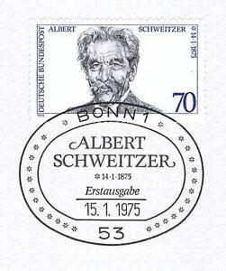 Rfa 1975: Albert Schweitzer Nº 830 Avec Propre Bonner Cachet Spécial! 1 A! 1904-afficher Le Titre D'origine