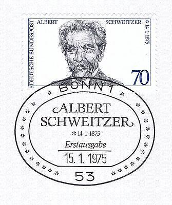 Brd 1975: Albert Schweitzer! Nr. 830 Mit Sauberem Bonner Sonderstempel! 1a! 153