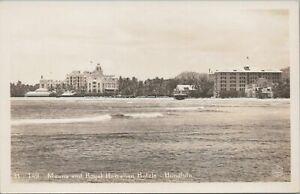 RPPC-Postcard-Moana-and-Royal-Hawaiian-Hotels-Honolulu-Hawaii-HI