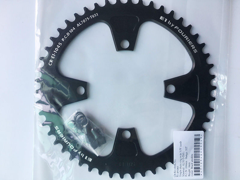 Fouriers Bicycle Big  Chainring Circle Narrow Wide BCD104mm For SHIMANO 50 52 54T  free shipping worldwide