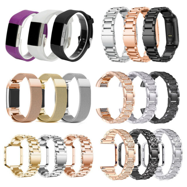 Replacement Silicone Ring w// Buckle for  Fitbit Charge HR Activity Tracker Used