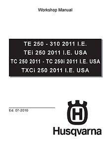 husqvarna workshop service manual 2011 i e te 250 te 310 ebay rh ebay ie 2012 husqvarna te 310 service manual husqvarna te 310 repair manual