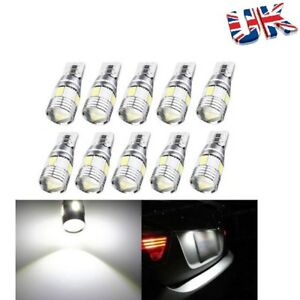 10x T10 LED ERROR FREE LAMP CANBUS 6SMD XENON WHITE W5W 501 SIDE LIGHT BULBS New