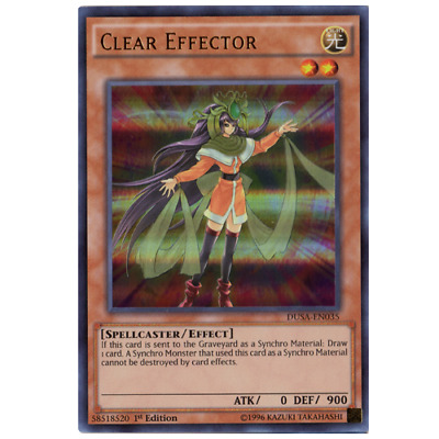 3x Clear Effector 1st Edition Ultra Rare DUSA-EN035 Yu-Gi-Oh!