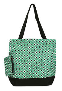 Jenzys-Mint-Geometric-Womens-Travel-Tote-Bag-Purse-Handbag-Shopping-Gym-School