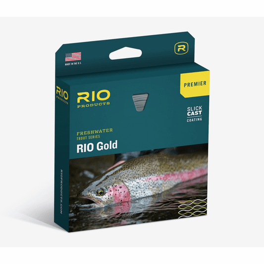 NEW PREMIER RIO GOLD WF-4-F #4 FLOATING FLY LINE W/ SLICKCAST IN MOSS / GOLD