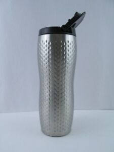 Starbucks-Dimpled-Stainless-Steel-Tumbler-Silver-16-oz-Travel-To-Go-Mug-Lid-2008