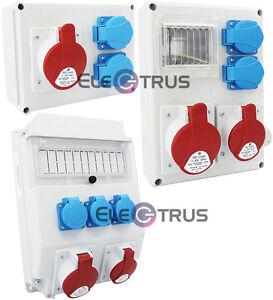 Baustromverteiler Stromverteiler Wandverteiler Steckdosen 16A 32A CEE 230V 5p