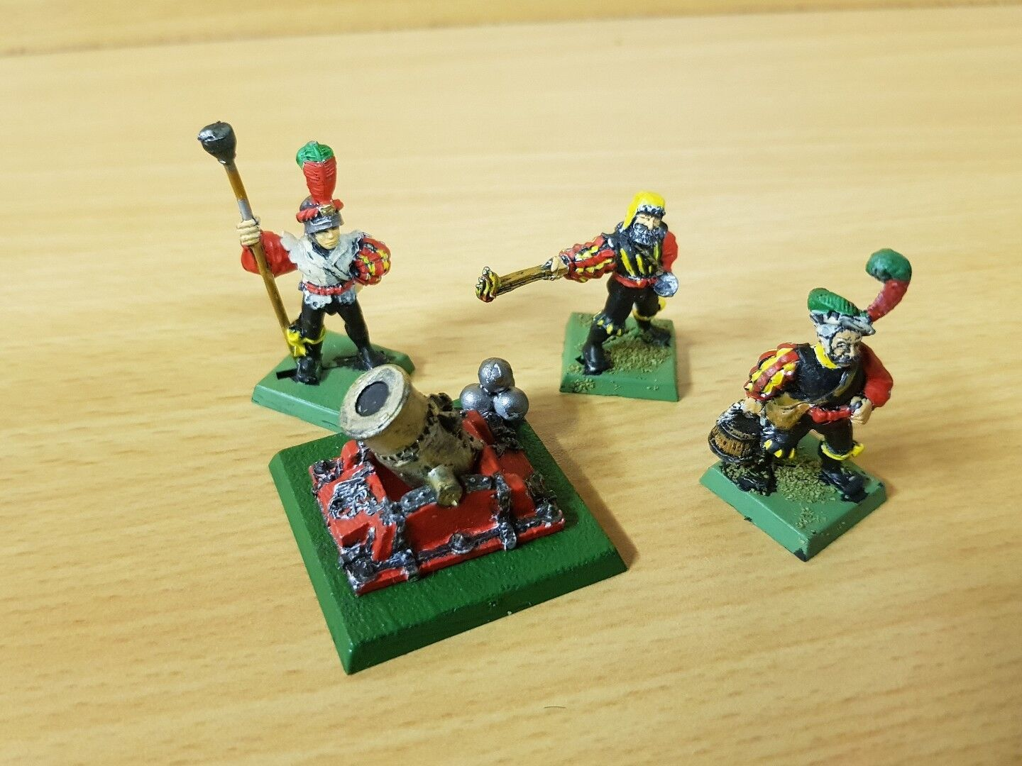 Classic EMPIRE Cannon and Crew well painted metal models Freeguild warhammer OOP
