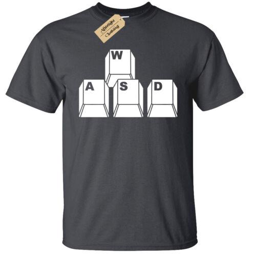 Kids Boys Girls WASD Keyboard Keys T-Shirt Funny geek nerd gamer computer pc