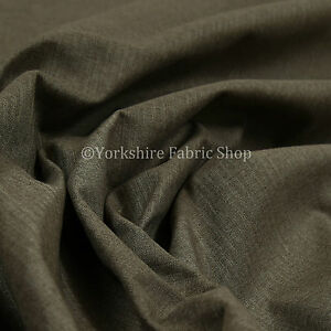 New-Brown-Plain-Soft-Wool-Chenille-Durable-Quality-Upholstery-Furnishing-Fabric