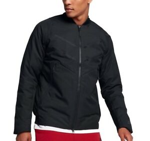 MEN-S-NIKE-AEROLOFT-BOMBER-JACKET-COAT-863726-010-BLACK-SIZE-SMALL