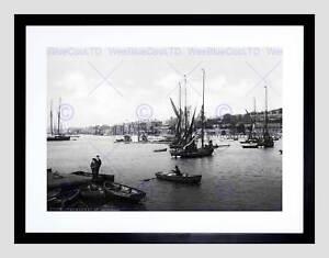 CHATHAM THE MEDWAY ENGLAND VINTAGE HISTORY OLD BW FRAMED ART PRINT B12X2395