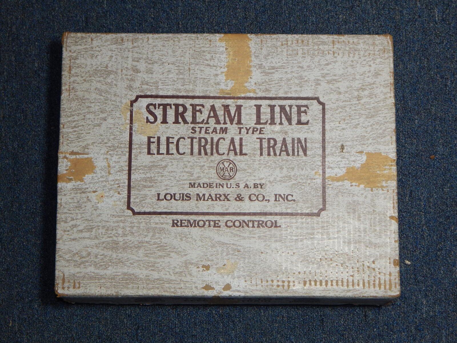 Entrega rápida y envío gratis en todos los pedidos. 1950s o o o escala Nº 5610 Marx Stream Line vapor tipo Conjunto de tren eléctrico con la Caja de R194  para barato
