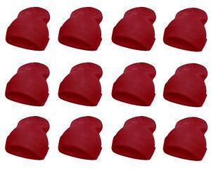 Top Headwear Solid Winter Long Beanie - 12 Piece Wholesale