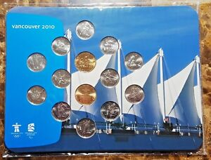 Canada-2010-Vancouver-Olympic-14-Coin-PL-Set-New