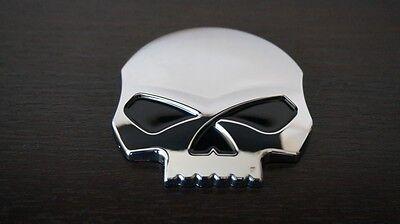 Harley Davidson Willie G Skull Chrom Emblem, Medallion, Badge, Abzeichen,Sticker