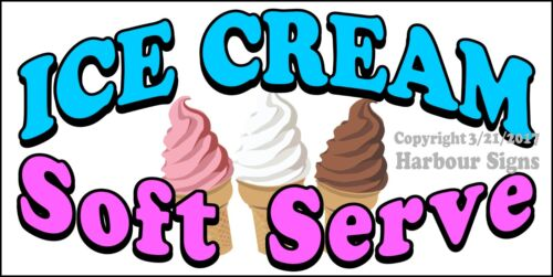 Ice Cream Soft Serve DECAL Food Truck Concession Restaurant Choose Your Size