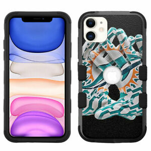 for-iPhone-11-6-1-034-Hybrid-Rugged-Impact-Armor-Case-Miami-Dolphins-G