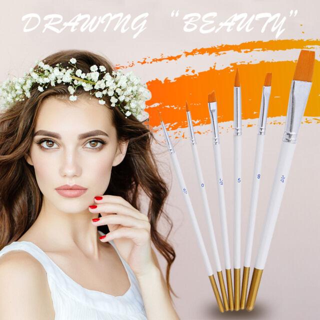 Professional Painting Set 6pcs Acrylic Oil Watercolors Artist-Paint Brushes