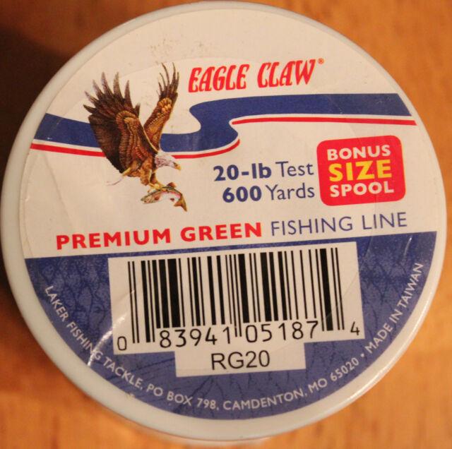 EAGLE CLAW BIOLINE FISHING LINE 10-lb TEST Free Shipping