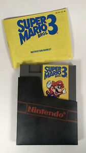 Super-Mario-Brothers-Bros-3-Nintendo-NES-Game-Manual-amp-Dust-Cover-Tested