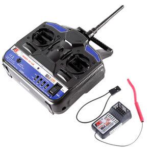 Flysky-2-4G-4CH-Radio-Model-RC-Transmitter-amp-Receiver-US-STOCK-Y9U0