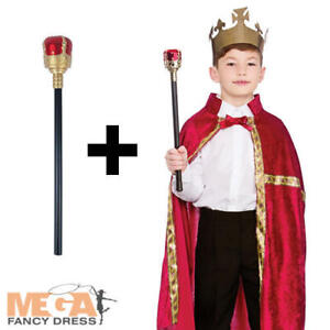 couronne Bourgogne King Robe sceptre Set Kids Robe Fantaisie Garçons Nativité Costume