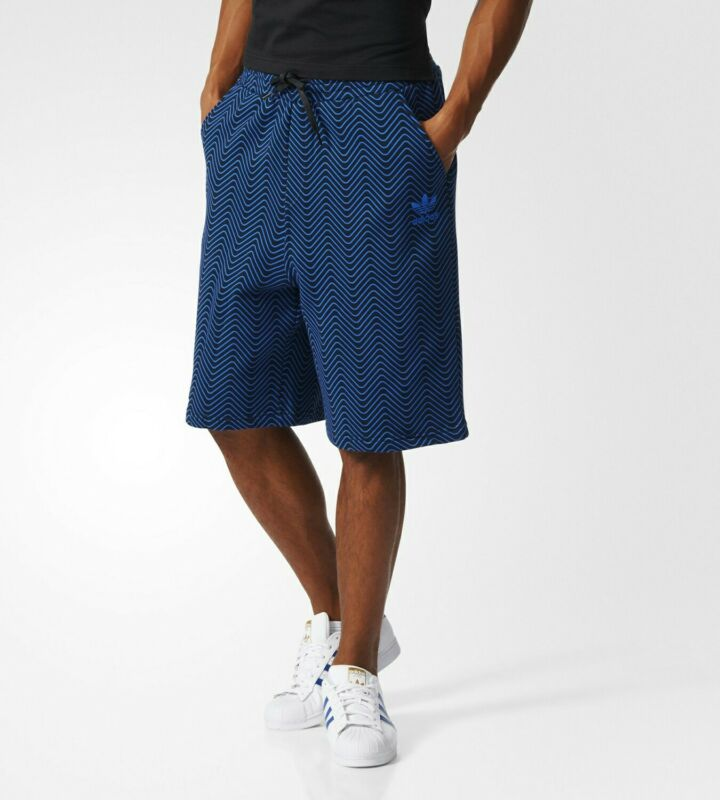 Adidas Originals Da Uomo Nyc Aop Herringbone Pantaloncini Blu