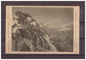 Ansichtskarte-Watzmann-Mittelspitze-gegen-den-Hundstod-1922-AK