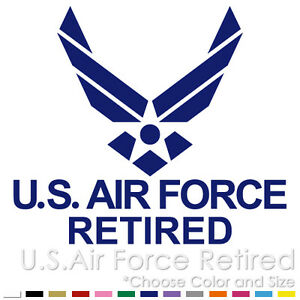 d14ceb77cec US AIR FORCE RETIRED USAF EMBLEM ARMY MILITARY VINYL DECAL STICKER ...
