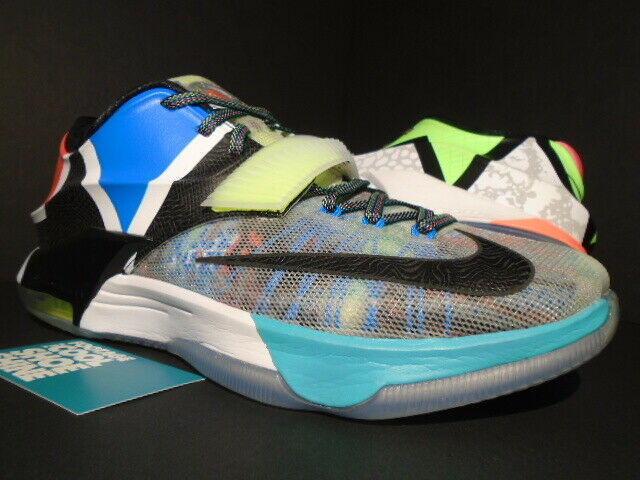 NIKE KEVIN DURANT KD VII 7 SE WHAT THE MULTI-Coloreee nero HORIZON 801778-944 9.5