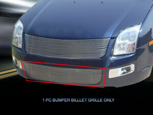 APS Compatible with 2006-2009 Ford Fusion Stainless Steel Billet Grille Combo Upper+Bumper N19-C15778F
