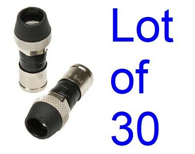 1000 Rg6 PPC Outdoor Coax Cable Fittings Compression Coax Connectors EX6WSPLUS