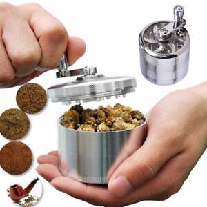 1x 4-Layers Herb Grinder Spice Tobacco/Weed Smoke Metal Crusher Leaf Design