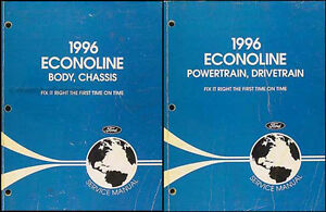 1996 ford econoline van shop manual set e150 e250 e350 club wagon rh ebay com 1986 Ford Econoline Van Headlamp Assembly 1996 Ford Econoline Cargo Van