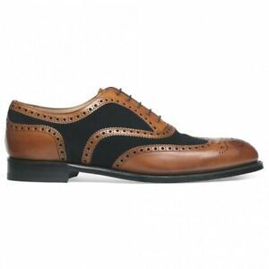 154bb87419635 Details about Men Handmade Tan Leather And Black Suede Two Tone Shoe,Oxford  Brogue Wingtip
