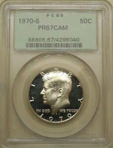 1970-S-PCGS-PR-67-CAM-Kennedy-half-dollar-superb-gem-proof-cameo-OGH