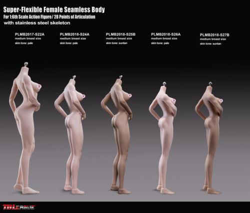 1//6 Phicen S27B PLMB2018-S27B Female Nude Body stand 270mm Suntan Medium Breast
