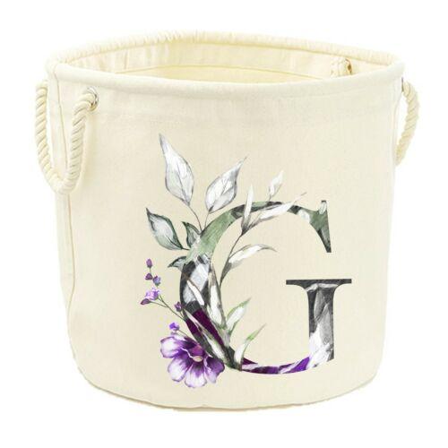 Toile Jouet de Bain-Floral Initial Lettre Enfants Nom Sac De Rangement PANIER BOX
