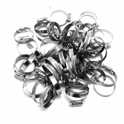 5 X Mikalor 25-40mm Stainless W2 Worm Drive Hose Clip