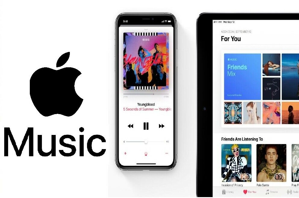 Apple Music  | 1 Year Warranty | Personal | Legal | worldwide 1