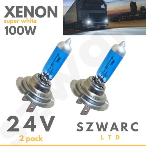 H7 24v 100w 499 Xenon Super Bright White Bulbs Volvo Daf Man Mercedes Iveco Hid