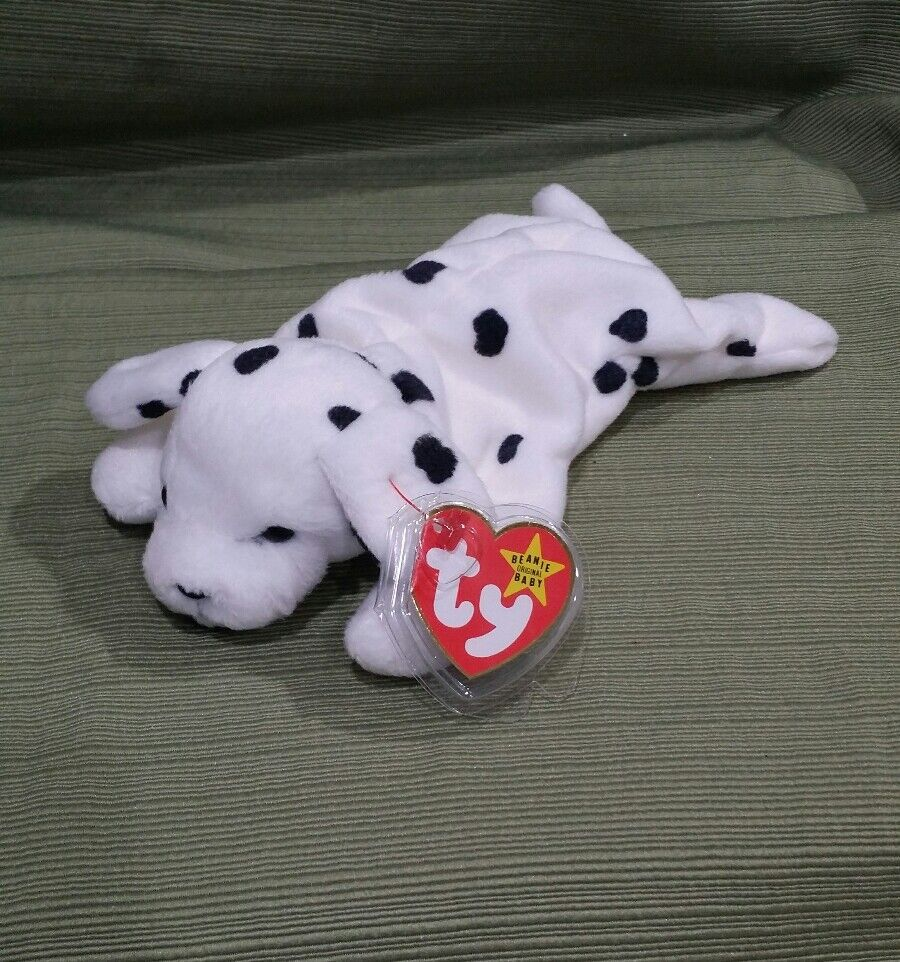 Ty Beanie Baby SPARKY the Dalmatian Dog 1996 PVC w Many Errors  SUFRACE +